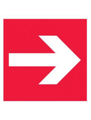 Знак пожарной безопасности F01-01 Направляющая стрелка (Пленка 200 х 200)