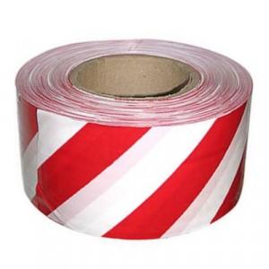 Лента бело-красная, 100м х 75мм