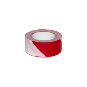Лента бело-красная, 200м х 50мм