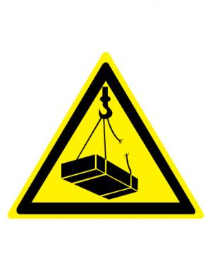 Знак предупреждающий W06 Опасно. Возможно падение груза (Пленка 200 х 200)