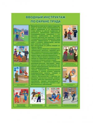 Плакат по охране труда Вводный инструктаж по охране труда
