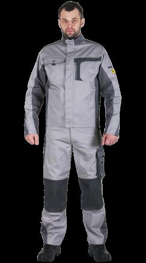 Куртка №2020 мужская, св.серый/т.серый PENTALAB