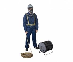 Противогаз изолирующий ПШ-1Б, бесприводной, шланг 10м, хб аммуниция, лицевая маска ШМ