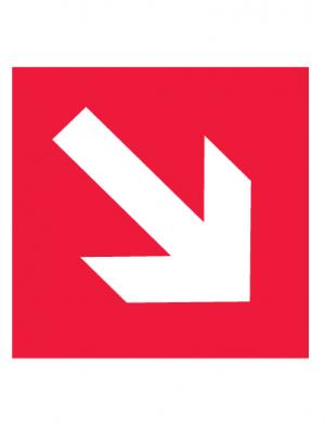 Знак пожарной безопасности F01-02 Направляющая стрелка под углом 45° (Пленка 200 х 200)
