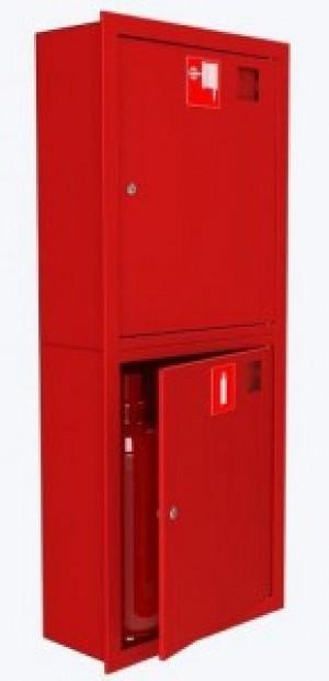 Шкаф для пожарного крана Закр Пр/Лев в стену без окна Место 2 огн.10 кг.