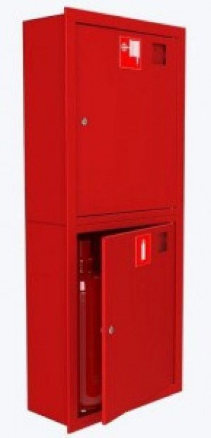 Шкаф для пожарного крана Откр Пр/Лев в стену без окна Место 2 огн.6 кг.