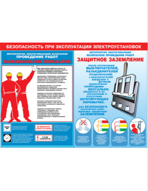 Плакат по электробезопасности Безопасность при эксплуатации электроустановок 4 плаката)