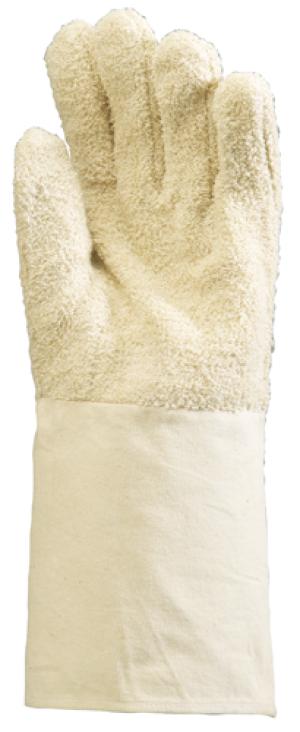 Перчатки от повышенных температур ворсистый хлопок, трикотажный манжет 15 см, до 100 градусов