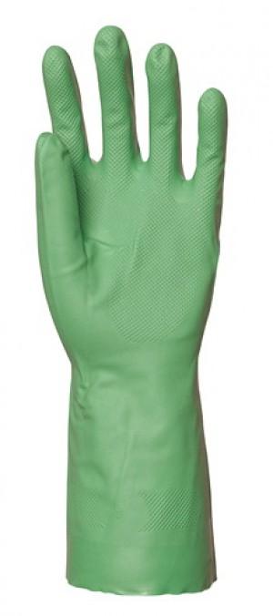 Перчатки химически стойкие NITRILE PLUS 5500, зеленый акрилонитрил, х/б напыление, 0.46 мм, 33 см