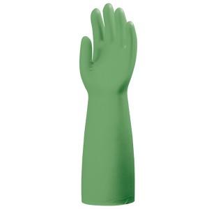 Перчатки химически стойкие NITRILE PLUS 5500, зеленый акрилонитрил, х/б подкладка, 0.56 мм, 40 см
