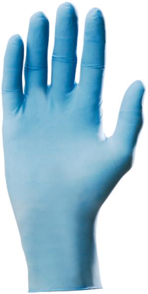 Перчатки одноразовые нитриловые, с присыпкой, нестерильные, 0.125 мм, 23 см, синие