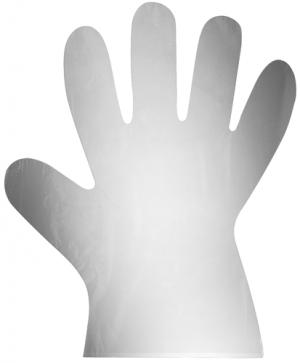 Перчатки одноразовые полиэтиленовые, без присыпки, нестерильные, 0.125 мм, 23 см