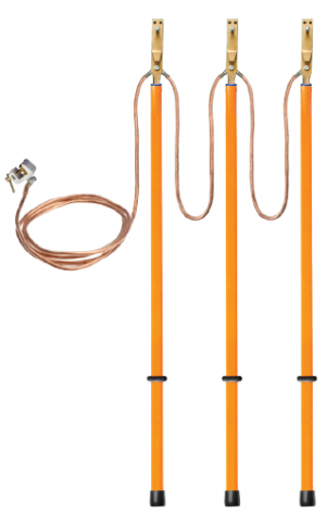 Заземление переносное для воздушных линий ЗПЛ-10 сеч. 25 мм2  (Электроприбор)