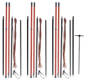 Комплект штанг для заземления воздушных линий с поверхности земли КШЗ-10 Д сеч. 50 мм2