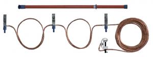 Переносное заземление ЗПЛ-10 Д сеч. 70 мм2, 1 штанга