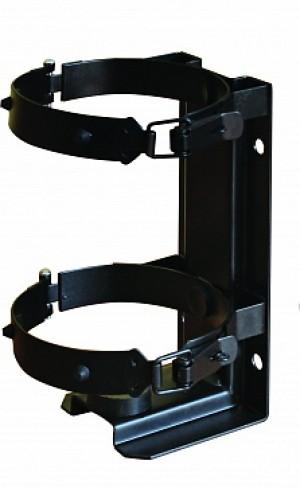 Кронштейн для огнетушителя транспортный КТХ-1+ на 2-х металлических хомутах  (d110) для ОУ-1 ИНЕЙ (Пожтехника)