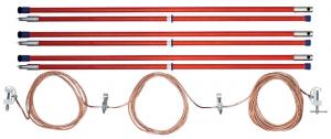 Переносное заземление ЗПЛ-220-3 Д сеч. 25 мм2, 3 штанги