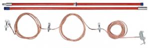 Переносное заземление ЗПП-220 Д сеч. 25 мм2, 1 штанга