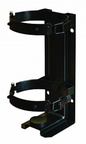 Кронштейн для огнетушителя транспортный КТХ-3 на 2-х металлических хомутах (d110) для ОУ-2 ИНЕЙ/ОП-3 МИГ