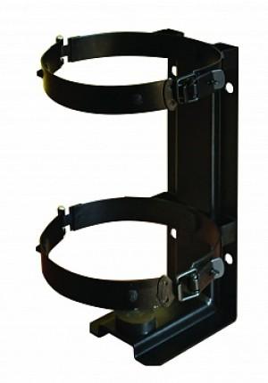 Кронштейн для огнетушителя транспортный КТХ-4+ на 2-х металлических хомутах  (d140) для ОУ-3 ИНЕЙ (Пожтехника)