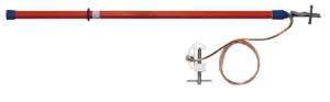 Переносное заземление для грозозащитного троса ПЗТ 330-500 Д сеч. 25 мм2 (пружинный зажим)