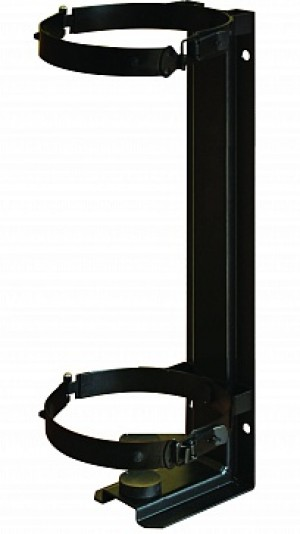 Кронштейн для огнетушителя транспортный КТХ-5+ на 2-х металлических хомутах (d140) для ОУ-5 ИНЕЙ (Пожтехника)