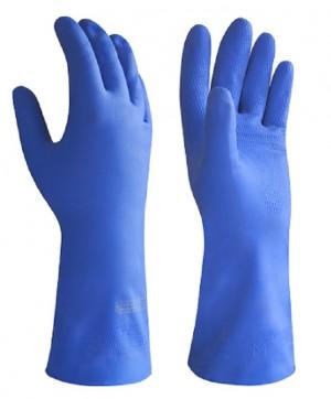 Перчатки латексные технические кислотощелочестойкие с ворсовой подложкой «Суперфлок» КЩС К20Щ20 тип 2