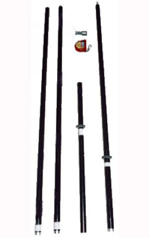 Штанга электроизолирующая ШЭУ-10-5-6.6КФ (6-10 кВ, фонарь VONATEX, Техношанс)