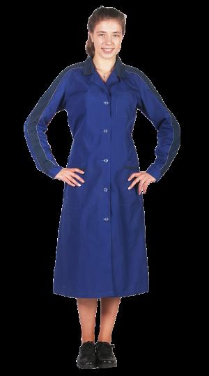 Халат женский Жасмин (василек/т.синий) PENTALAB