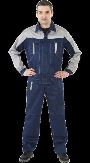 Костюм Оптима с брюками (т.синий/серый) PENTALAB