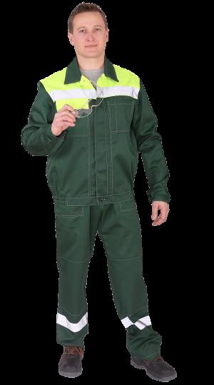 Костюм Чикаго с брюками (т.зеленый/лайм) PENTALAB