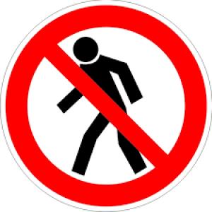 Знак запрещающий P03 Проход запрещен (Пленка 200 х 200)