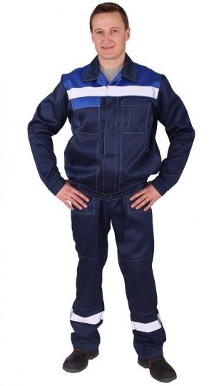 Костюм Чикаго с брюками (т.синий/василек) PENTALAB