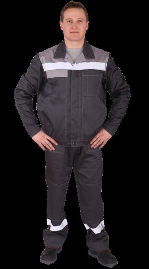 Костюм Чикаго с брюками (т.серый/св.серый) PENTALAB