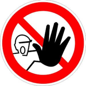Знак запрещающий P06 Доступ посторонним запрещен (Пленка 200 х 200)