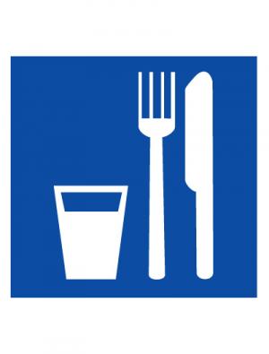 Знак указательный D01 Пункт (место) приема пищи (Пленка 200 х 200)