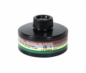 Запасной фильтр к противогазу ДОТ про 250 марки А1В1Е1К1