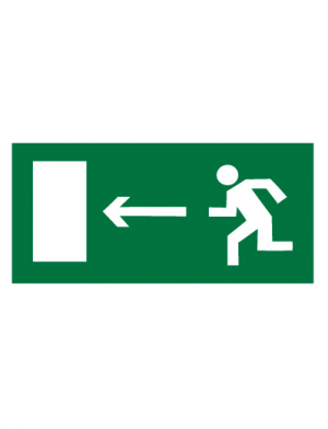 Знак эвакуационный E04 Направление к эвакуационному выходу налево (Пленка 150 х 300)