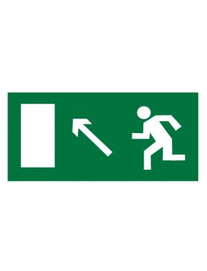 Знак эвакуационный E06 Направление к эвакуационному выходу налево вверх (Пленка 150 х 300)