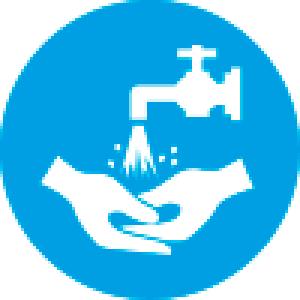 Знак К01 Мыть руки (пленка 200х200 мм)
