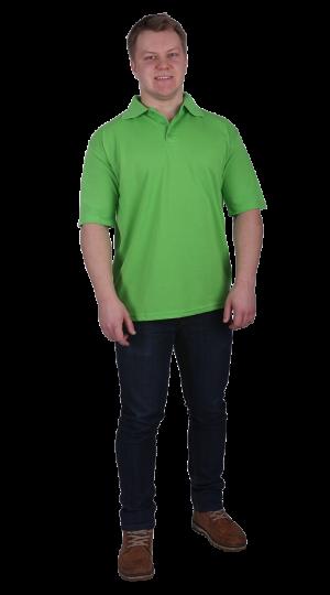 Рубашка-поло с манжетами салатовая
