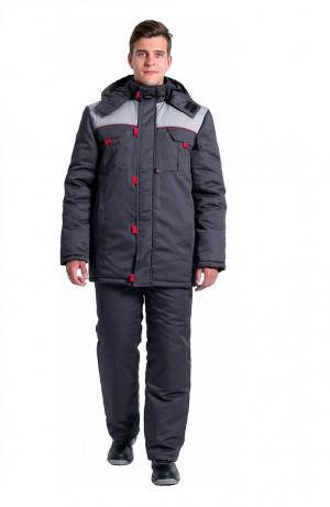Куртка зимняя Фаворит NEW (тк.Балтекс,210), т.серый/серый