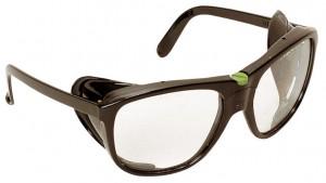 Очки для газосварочных работ LUXAVIS 5, нейлон, окуляр - затемнение 5, боковая защита, сменные стекла, защита от царапин