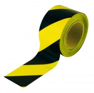 Лента желто-черная, 500м х 75мм
