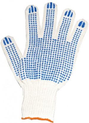 Перчатки защитные Эконом, 7,5 кл  3-нитка (точка, протектор, волна)