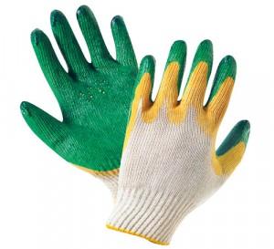 Перчатки механически стойкие двойной латексный облив